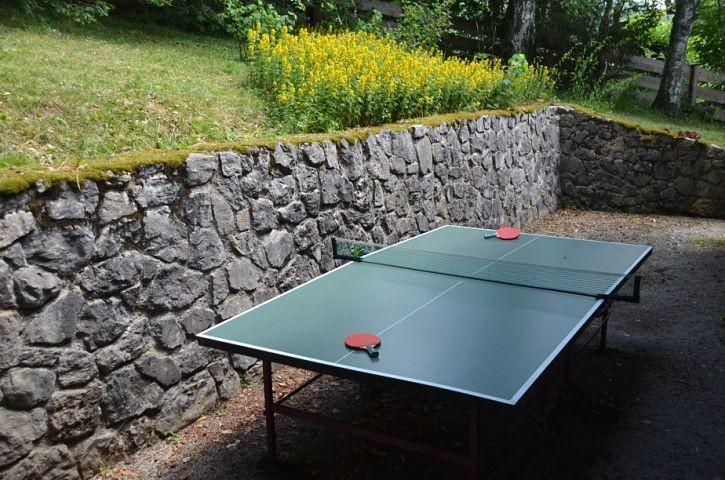 Tischtennis im Garten