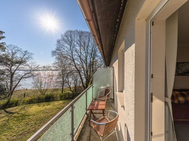 Der Balkon mit Seeblick
