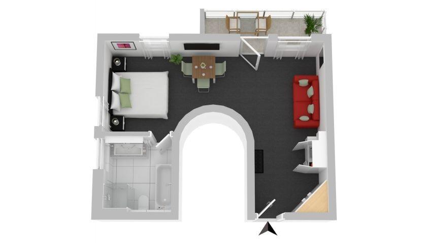 Grundriss Apartment Wels