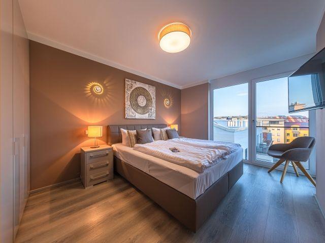 Schlafzimmer mit Ambiente