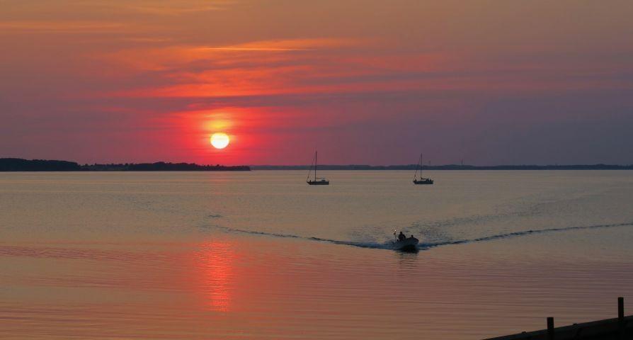 Sonnenuntergang Gelinge Bucht