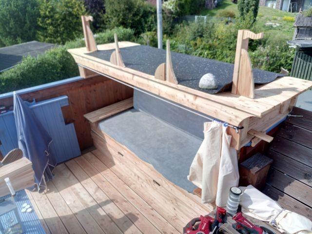 Das Himmelbett auf dem Dach