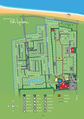 Parkplan mit Lage des Hauses