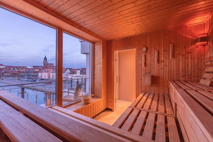 Sauna in der Hafenresidenz Waren inklusive