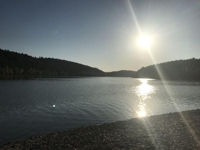 Sonnenuntergang am Zeulenrodaer Meer