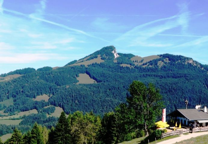 Blick von der Wildbichleralm auf den Spitzstein