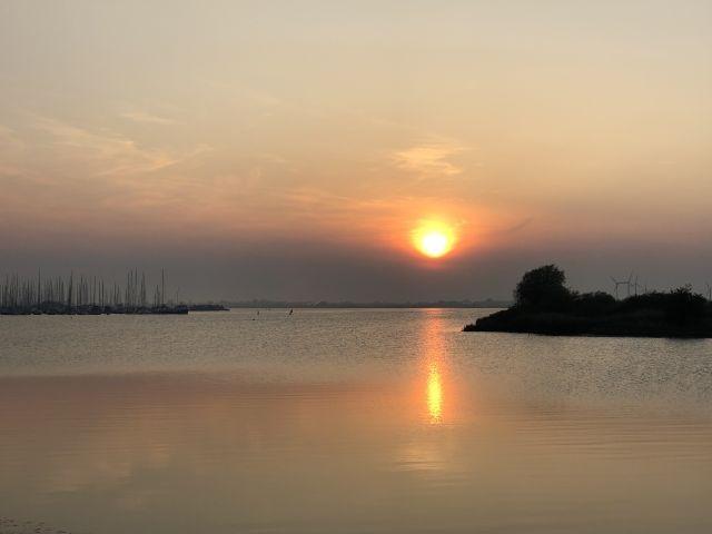 Herrliche Sonnenuntergänge auf der Insel