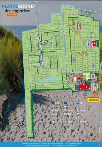 Lageplan Park, roter Kreis = Lage des Hauses