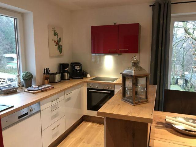 Die voll ausgestattete Küche
