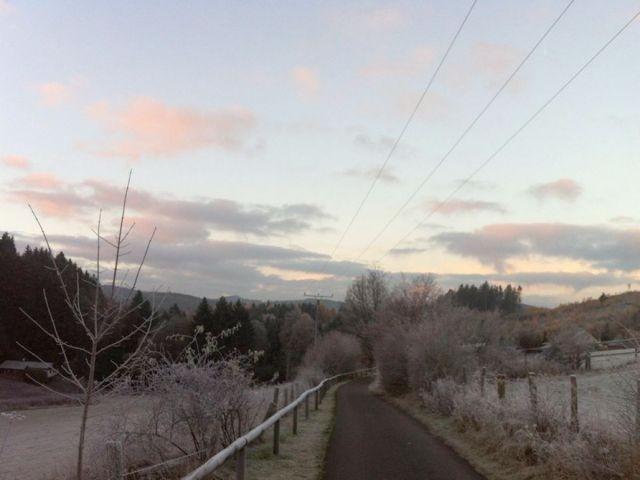 Der nahe Blindenpfad im Winter