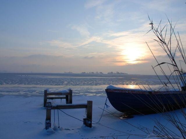 Orther Bucht im Winter