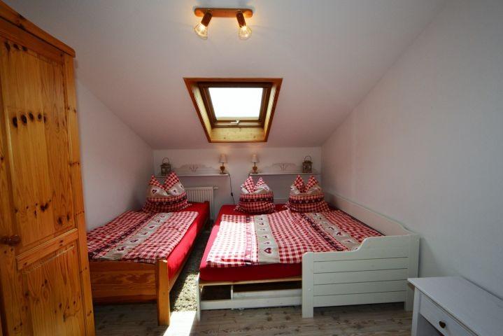 Schlafzimmer 2 - das Daybett ausgezogen