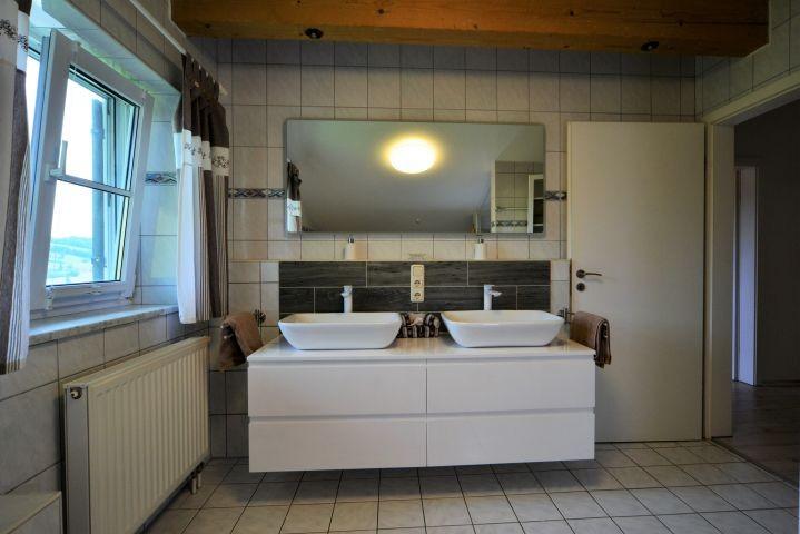 Zwei Waschbecken, Tageslichtfenster