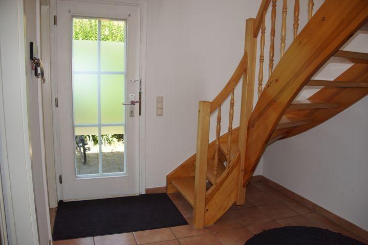 Die Treppe in das Obergeschoss