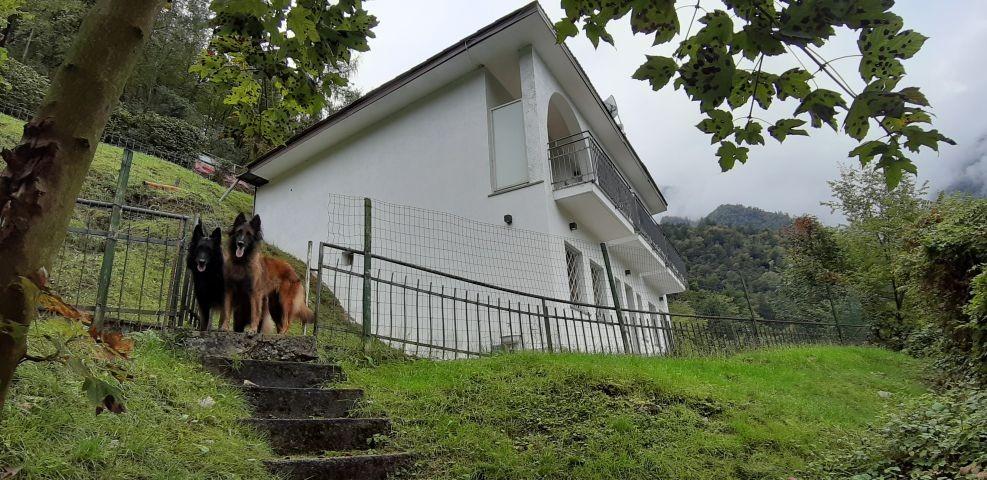 die Villa vom Strand aus gesehen