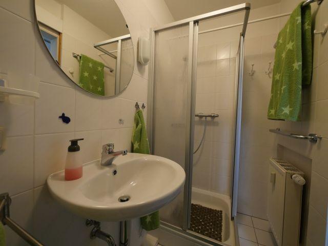 Das Badezimmer in der Ferienwohnung Nr. 11