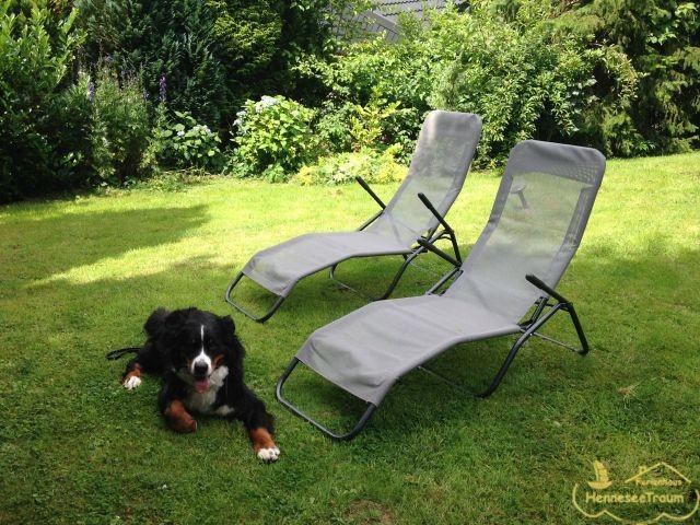 Im Garten können Sie wunderbar entspannen