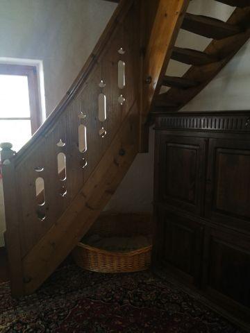 ..nun die Treppe hoch..