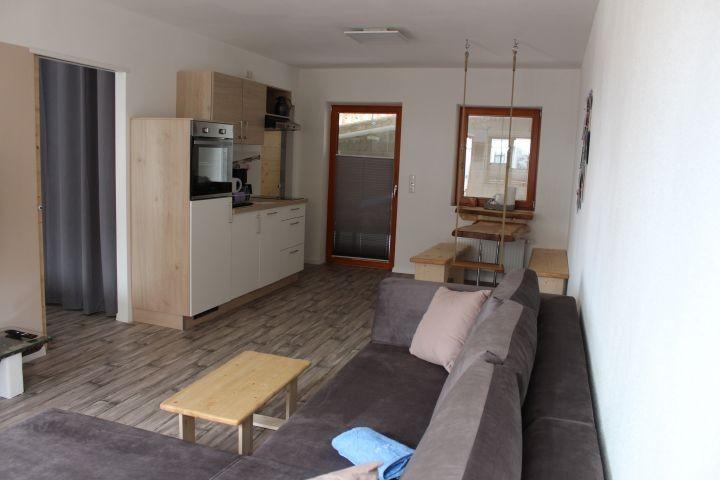 die offene, helle Wohnküche