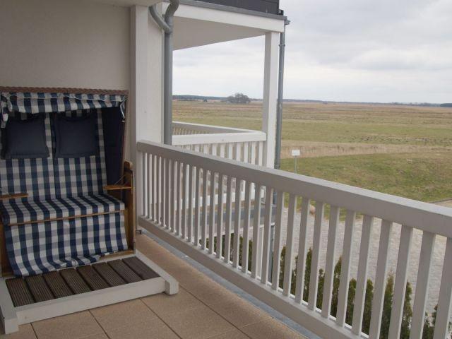 Balkon 2 mit Blick auf die Peenewiesen