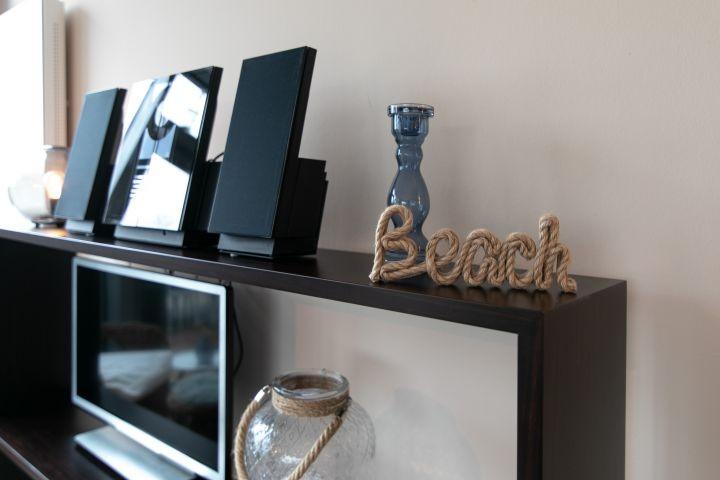 Bose Anlage und TV im Wohnzimmer