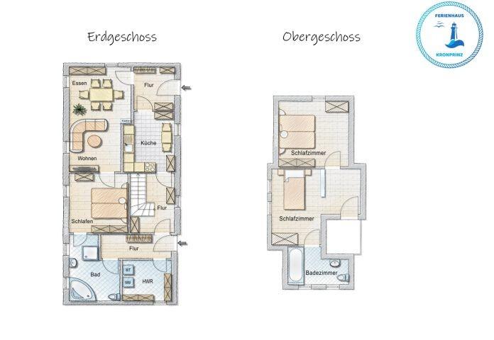 Grundriss des Hauses