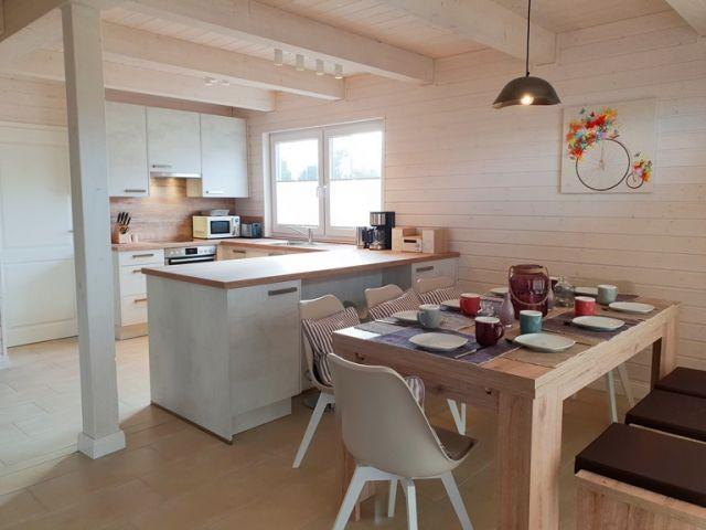 Blick Essbereich Küche Strandlümmel