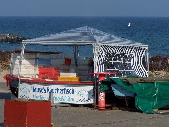Fischerbuden am Strand