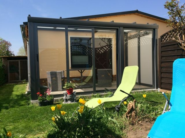 Relaxen im kleinen Garten vom Apartment