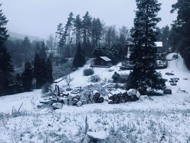 Unser Hüttchen im Schnee!