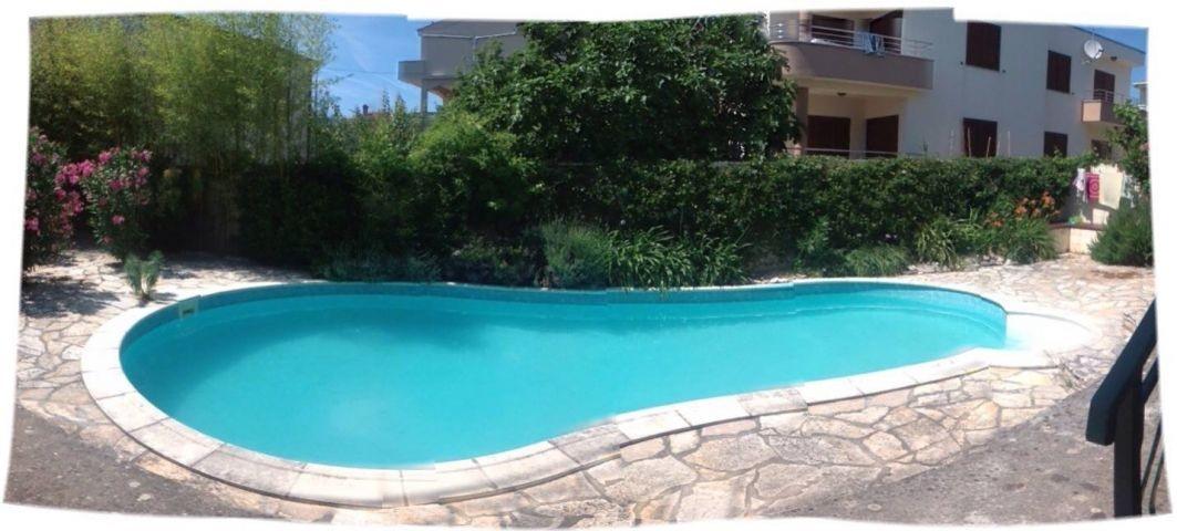 Pool ist  gross