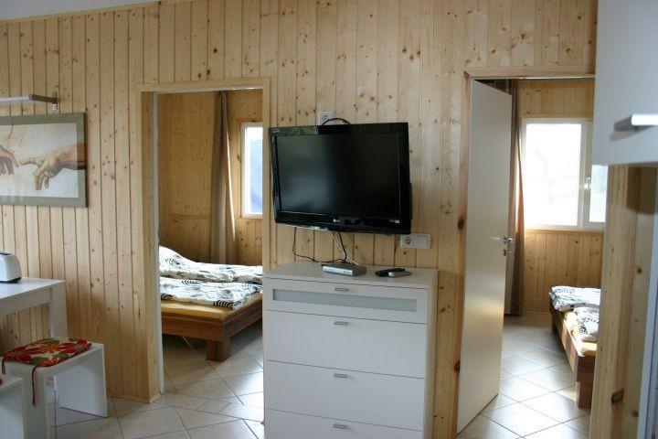 Wohnraum mit Blick auf Schlafräume