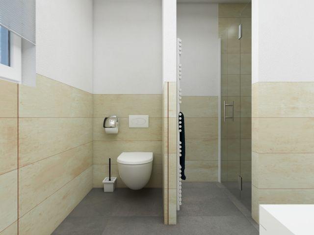 Badezimmer mit ebenrdiger Dusche