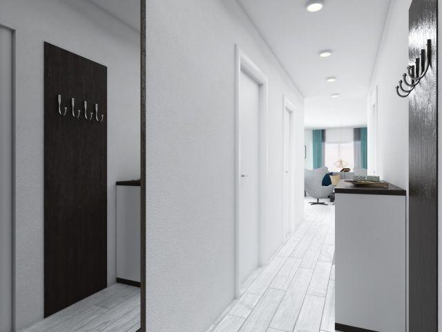 Schlichter moderner Eingangsbereich