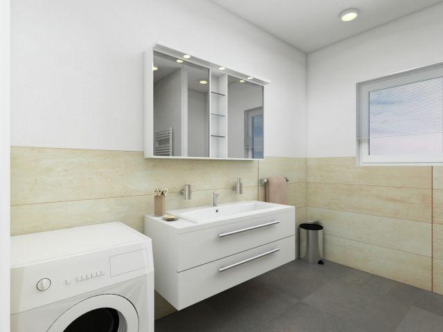 Badezimmer im hellem Strandhaus-Stil