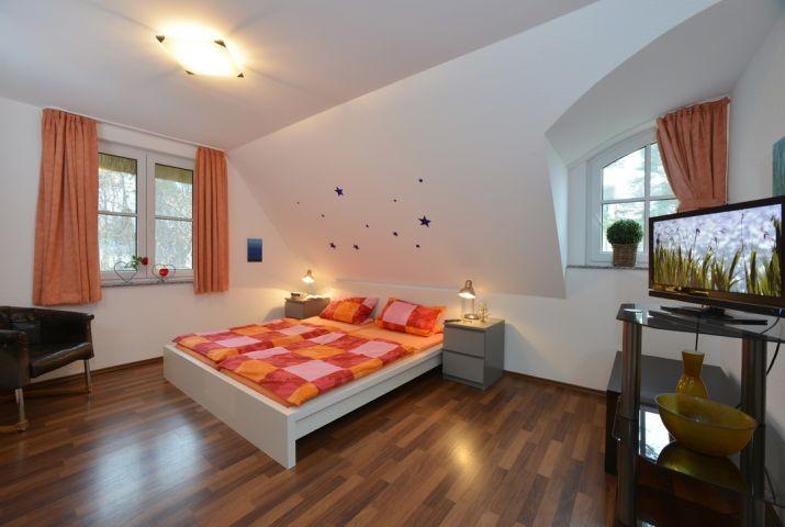 Schlafzimmer mit Sternenhimmel