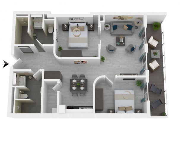 Grundriss der Ferienwohnung Marco Polo Suite