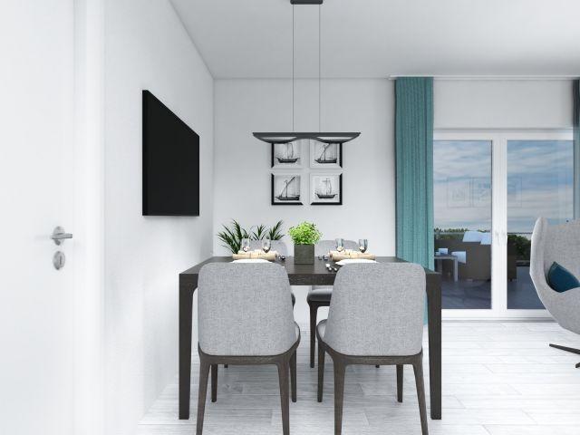 stilvoller und offener Wohn - Essbereich