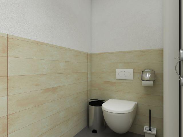 WC mit Schiebetür