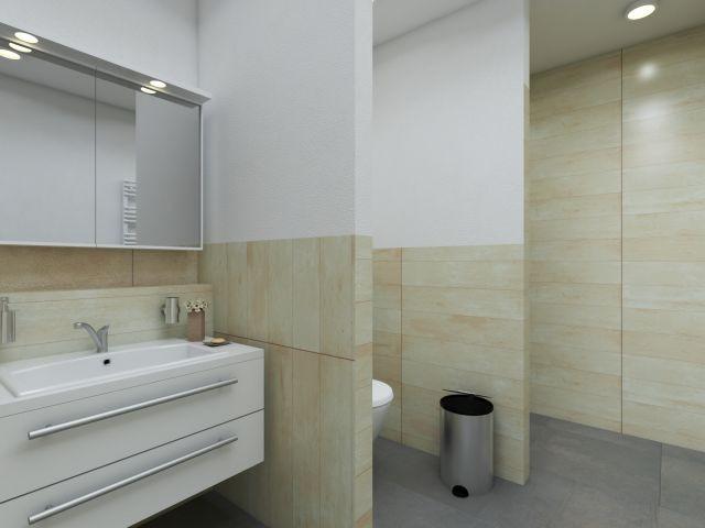 Badezimmer im Strandhaus Stil