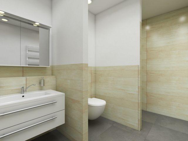 Badezimmer mit ebenerdiger Walk In Dusche