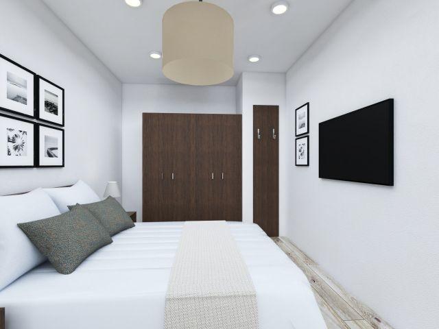 Kapitänsschlafzimmer mit Flügeltüren