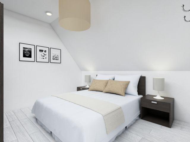 Das Schlafzimmer in der  Ferienwohnung Seebadperle