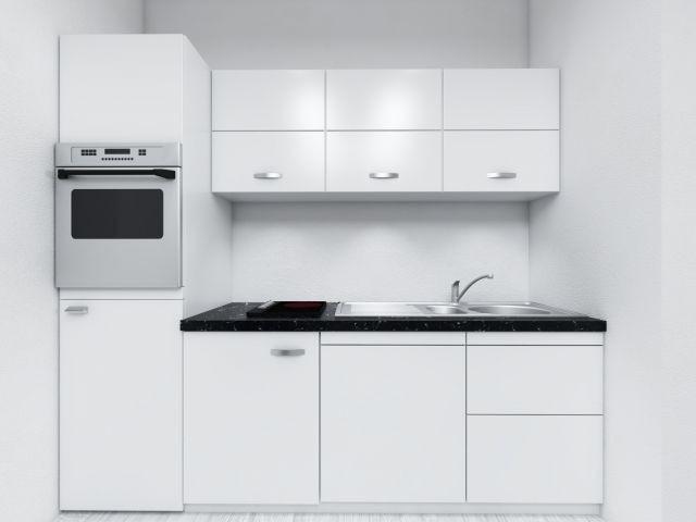 Voll ausgestattete Nolte Einbauküche in der Apartmentanlage Zwei Wasser
