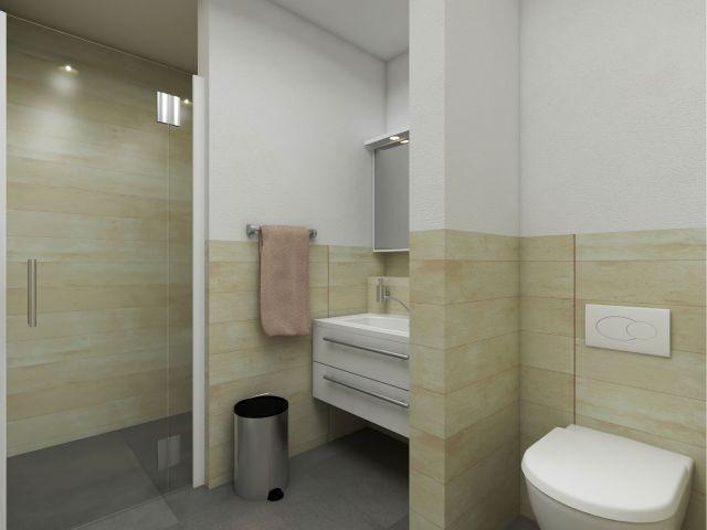 2tes Badezimmer mit ebenerdiger Dusche