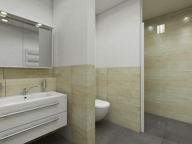 Walk in Dusche in der Apartmentanlage Zwei Wasser
