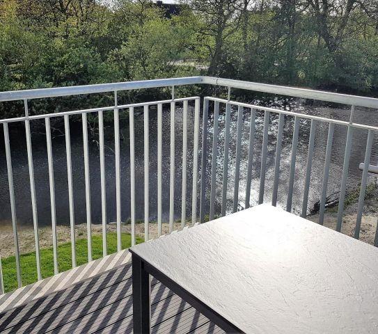 Balkon an der Graft