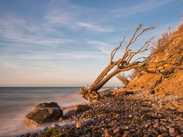 Abendliche Stimmung am Ostseestrand