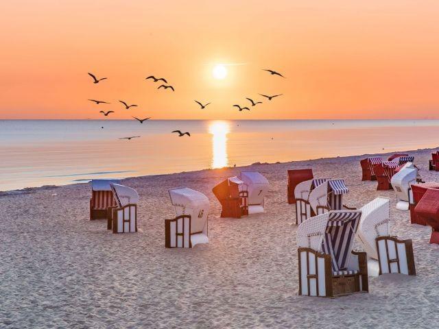 Traumhafte Sonnenuntergänge an der Ostsee