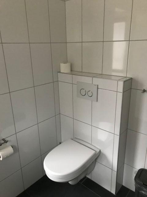 Toilette im Badezimmer Erdgeschoss